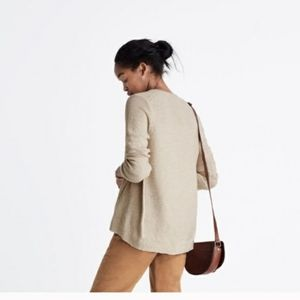 Madewell Riverside Textured Sweater Beige Knit